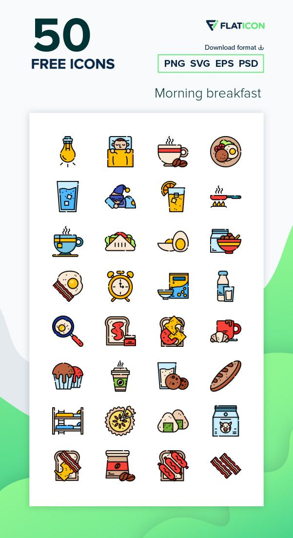 50 Free Vector Icons Of Breakfast Designed By Freepik In 2021 Vector Free Free Icon Packs Vector Icons