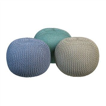Briscoes - Koopman Pouf Knitted Assorted