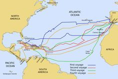 The four voyages of Christopher Columbus 1492–1503