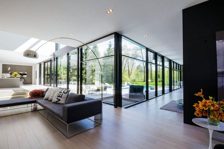 Awesome Architecture » Beautiful Modern Home Design : 44 Belvedere Residence in Oakville, Ontario by Guido Costantino Design Office: Living Rooms Wall, Modern Window, Favorite Places, Belv House, Interiors Design, Dreams House, Doors Fenestr, Design Offices, Bigfoot Doors