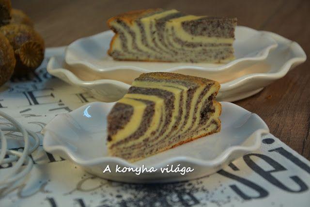 A konyha világa: Túrós mákos zebra torta