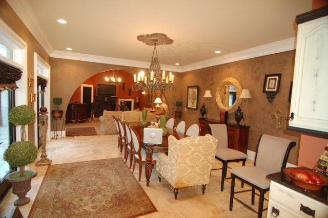 Elegant dining room in stunning 7,200 s.f. home overlooking golf course, $449,900. MLS 151749. Contact Sonja Brown, American Way Real Estate, 931-979-7145.Dining Room, Golf Cours