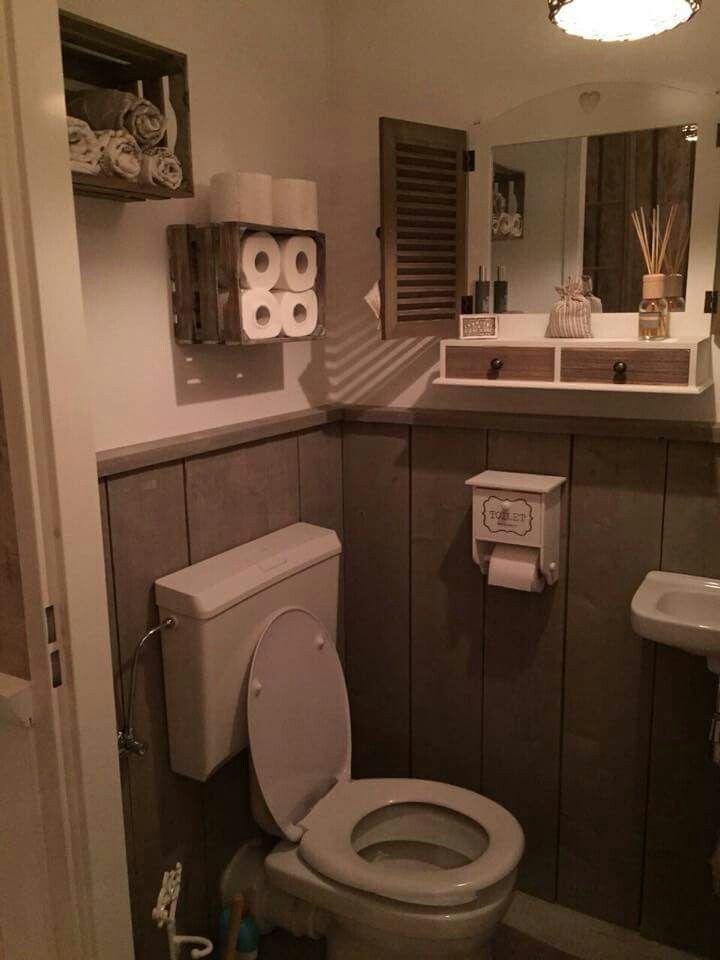 Veel ideetjes bij elkaar op een landelijk toilet