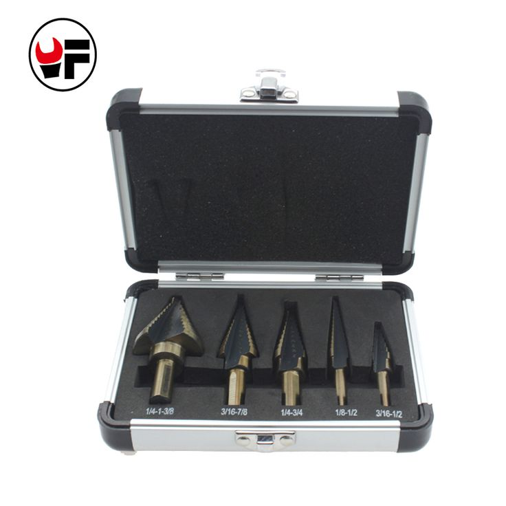 5pcs step cone drill set of drill bits for metal toolbox Hole Cutters power cones HSS high speed steel multiple ferramentasDZ129  EUR 9.36  Meer informatie  http://ift.tt/2tLasDj #aliexpress