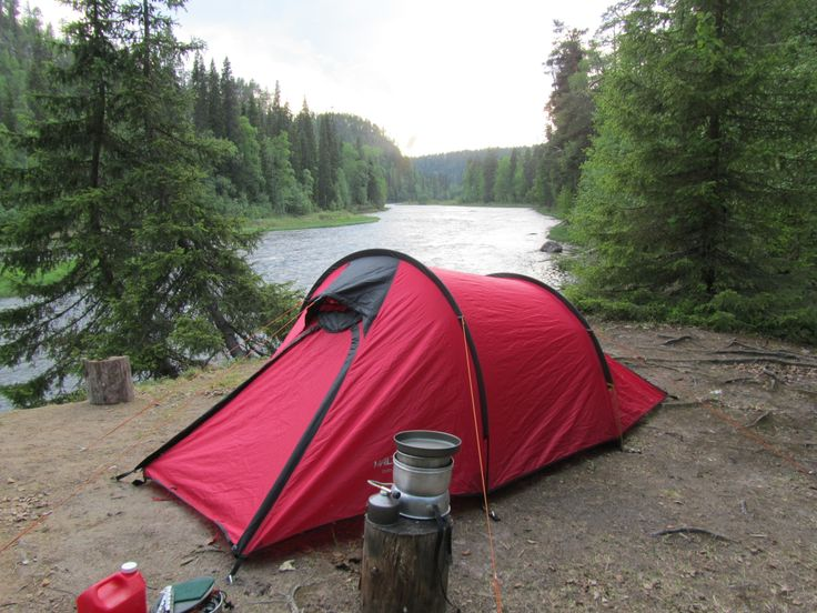 The most beautiful place for the tent - Oulanka River