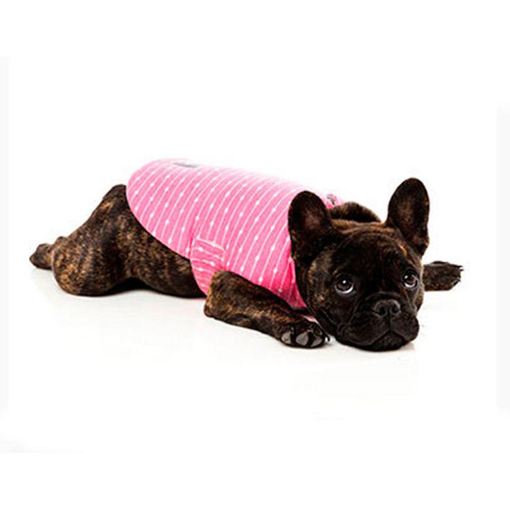 Fuzzyard Wrap Vest Pink Connected Dots