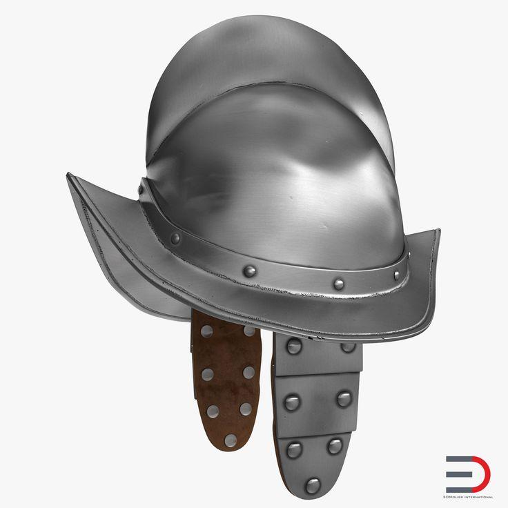 3D Morion Helmet with Wings model