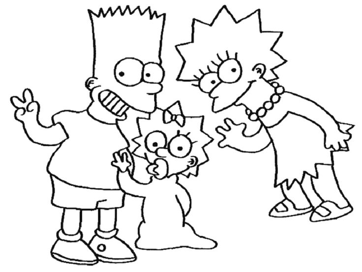 Magnificent Printable Simpsons Coloring Pages Coloring Me Mold ...