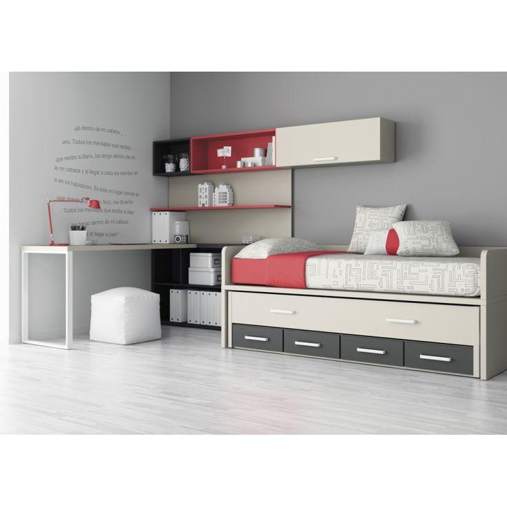 M s de 1000 ideas sobre cama con cajones en pinterest - Cama juvenil con cajones ...