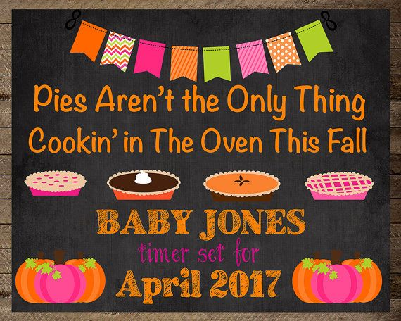 Fall is in the air, baby announcement, pregnancy announcement sign, pregnancy…