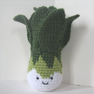 FREE Bok Choy Vegetable Amigurumi Crochet Pattern and Tutorial by CROCHET N PLAY DESIGNS