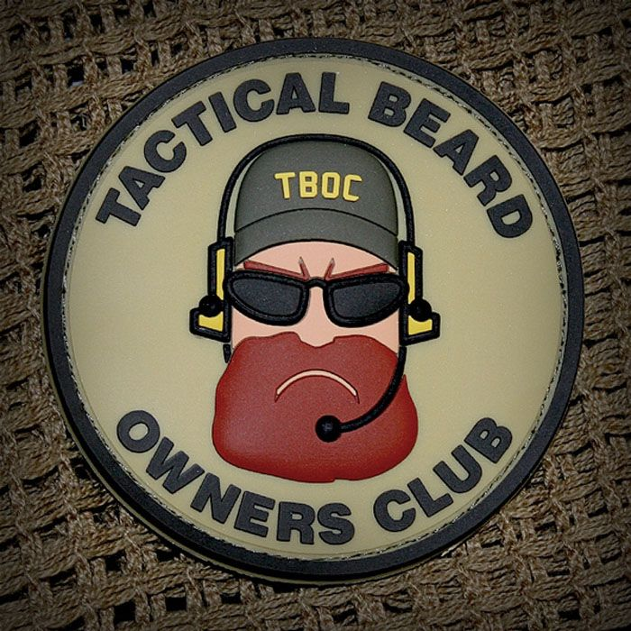 Tactical Beard Owners Club Patches | Popular Airsoft