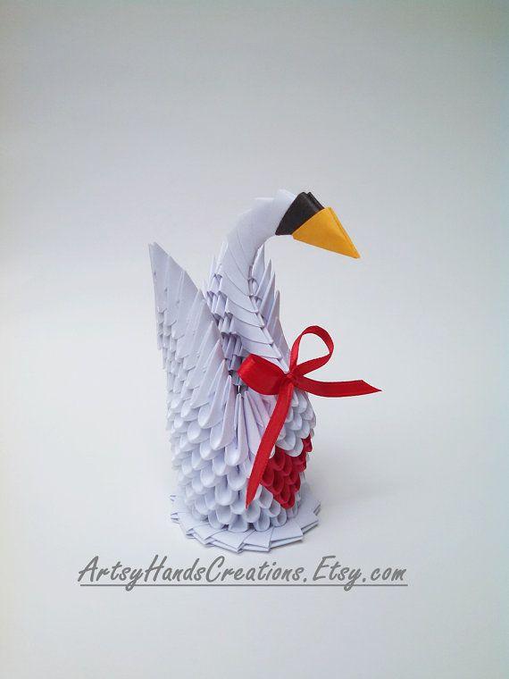 3d Origami Swan 3d Origami Small Swan 3d door ArtsyHandsCreations