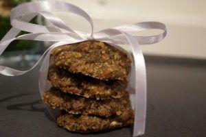 Lakris-cookies med hvit sjokolade