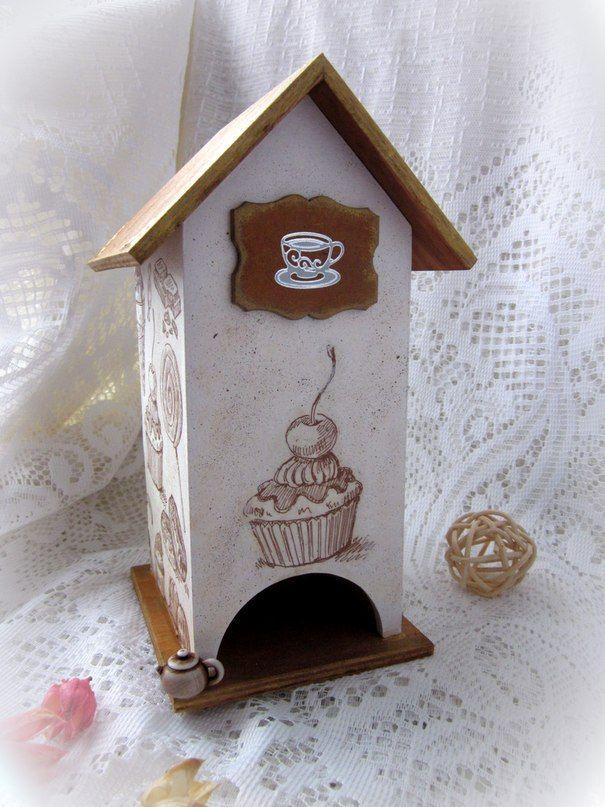 "Декупаж - Сайт любителей декупажа - DCPG.RU | Чайный домик ""Candy House"" Click on photo to see more! Нажмите на фото чтобы увидеть больше! decoupage art craft handmade home decor DIY do it yourself tea house cupcake sweets"