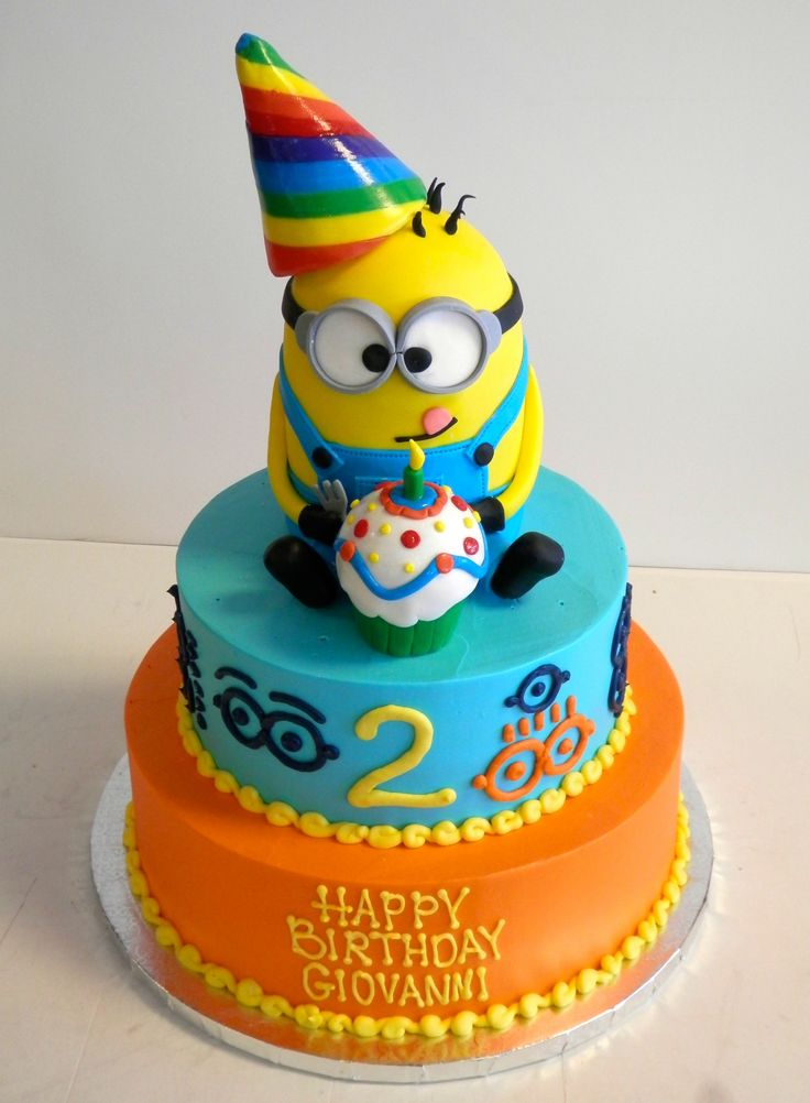 Cake Designs For A Two Year Old Boy : 2 year old birthday cake! #DespicableMe #Minions Boy s ...
