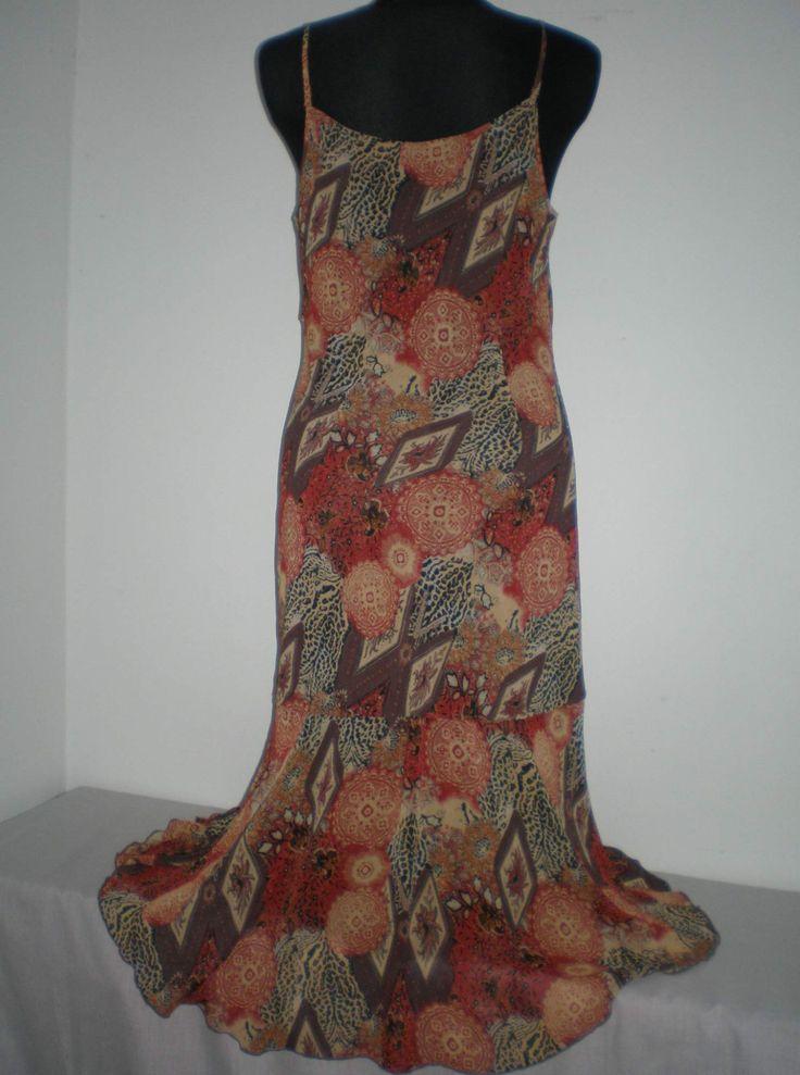 Elegantní letní dlouhé vzorované šaty vel.M 14/42 (4347116692) - Aukro - největší obchodní portál