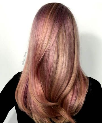 Bilderesultat for brown rose gold hair color