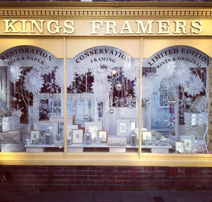Icy Christmas Window - Kings Framers - Lewes, East Sussex