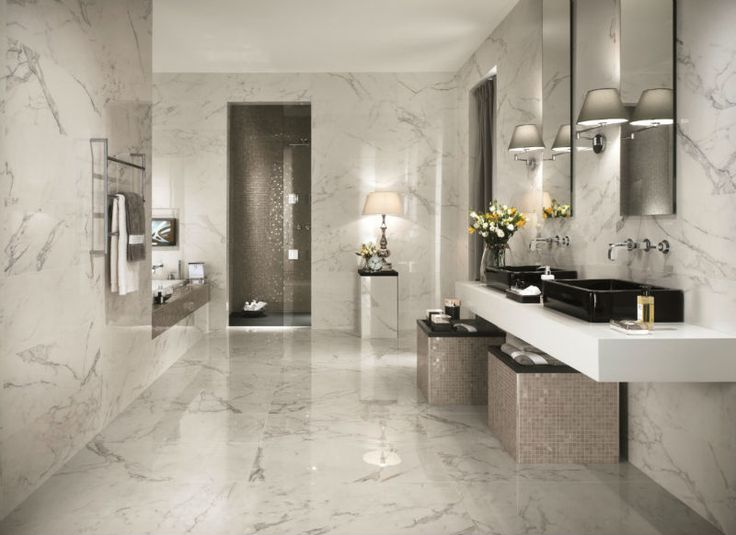 Remember the rule of one pattern only in fixed elements, and apply that to kitchen and bath designs.