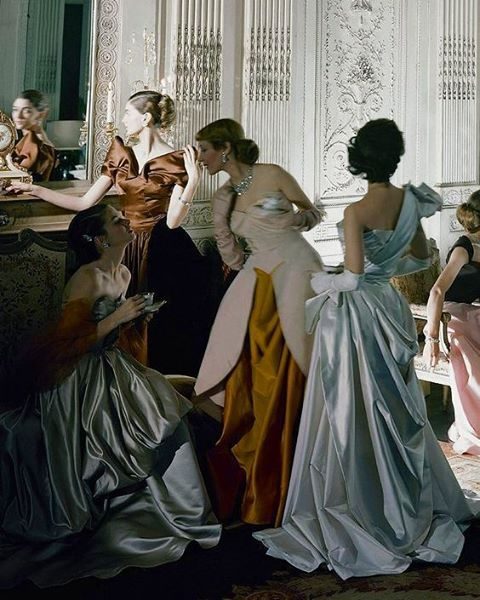 Charles James gowns by Cecil Beaton.