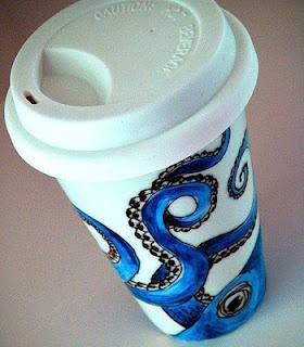 Everything Octopus: Ceramic Octopus Travel Mug. Lovely design