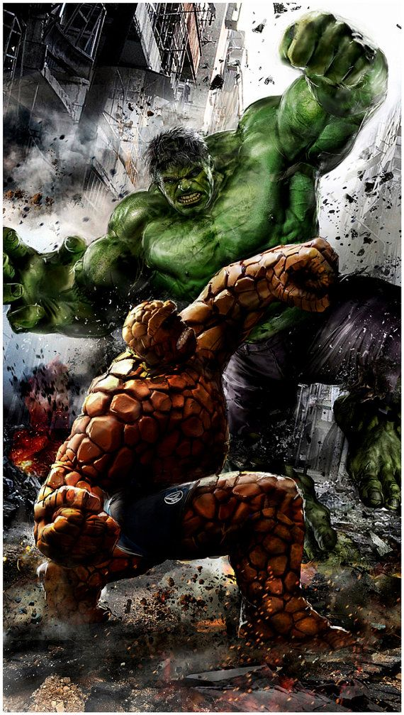 Hulk vs. The Thing on Yancy Street