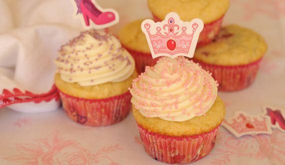 Cupcakes de Vainilla y Frambuesa