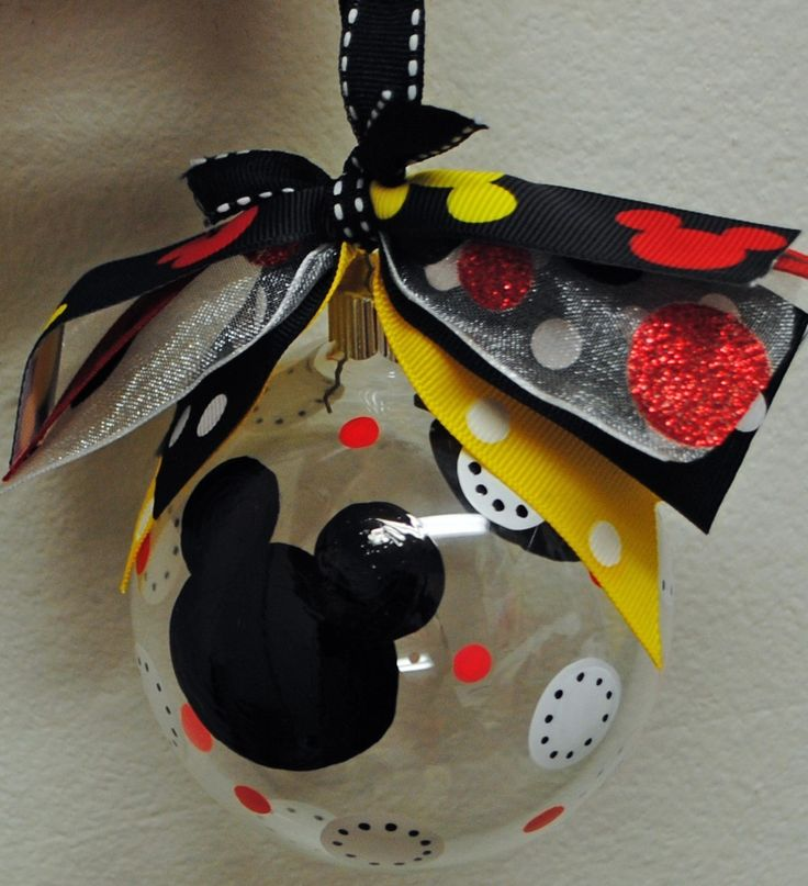 Image detail for -Disney Mickey Mouse Christmas Ornament...Personalized-Handpainted