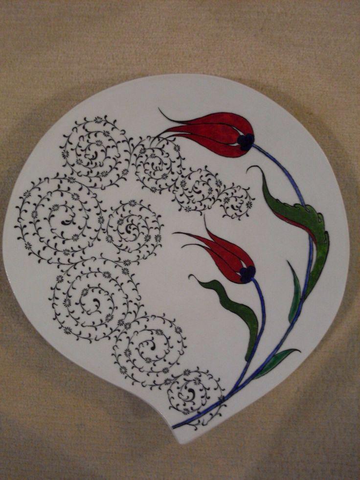 30cm çini tabak Tile art, handmade