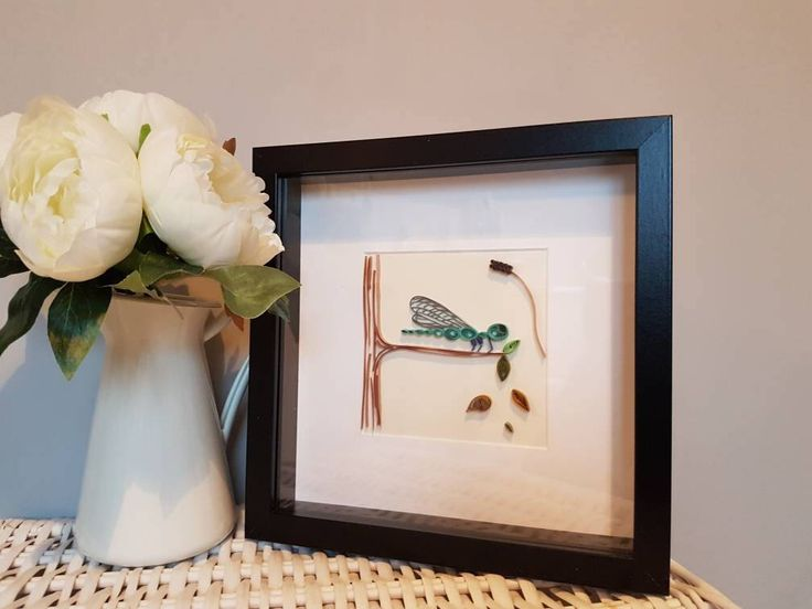 Paper Quilled Dragonfly Picture, paper quilling, wall art, wildlife art, insect picture, Dragonfly wall art, Dragonfly Decor by WithaQuillandastitch on Etsy https://www.etsy.com/uk/listing/589346301/paper-quilled-dragonfly-picture-paper
