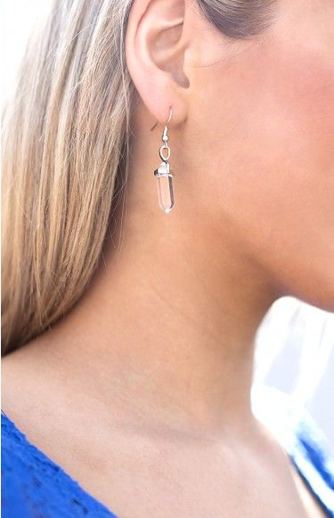 Hunter Gatherer Crystal Point Earrings Clear | Beginning Boutique
