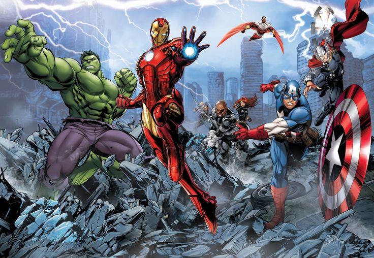 FOTOTAPETE VLIES Avengers Marvel Junge Kinderzimmer