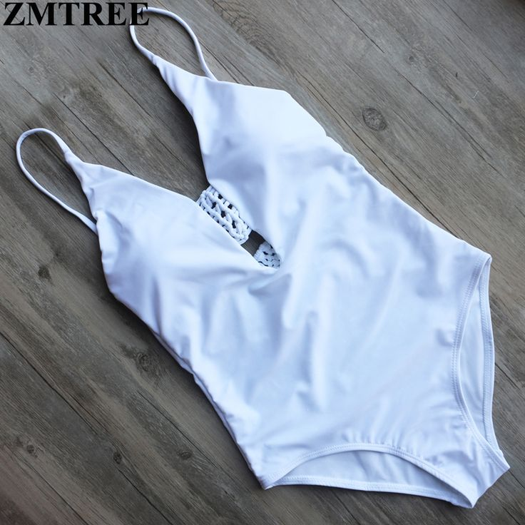ZMTREE Brand One Pieces Swimsuit Set Sexy Backless Bodysuits Black White Bathing Suits For Women Swimwear Sets Solid Monokinis