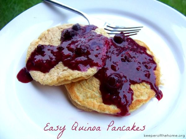Easy Quinoa Pancakes (Gluten, Dairy, and Sugar Free) - Keeper of the Home