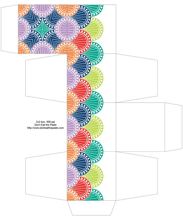 FREE Printable Spring Colors Gift Box