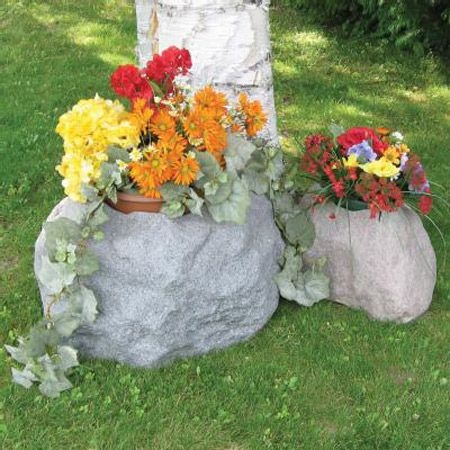 Blossom Boulders - Faux Rock Planters - The Green Head
