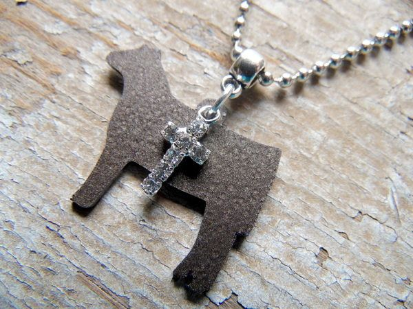 Show Cattle Heifer and Cross Necklace