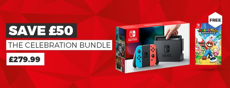 UK Daily Deals: Nintendo Switch With Mario Rabbids for 280 12 Month PS Plus Subscription Under 37    Like me on Facebook and follow me on Twitter for the latest deals.  Nintendo Switch With Mario Rabbids Under 280  Celebrate the birth of Nintendo Switch with Game. Buy Nintendo Switch console in neon red and blue at Game and get Mario Rabbids: Kingdom Battle for free.  Continue reading  https://www.youtube.com/user/ScottDogGaming @scottdoggaming
