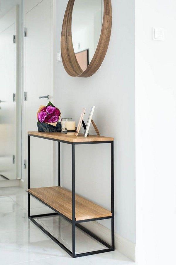 Console A Etagere Nordique Console Deco Moderne Console Salon Table De Salon Design Deco Maison