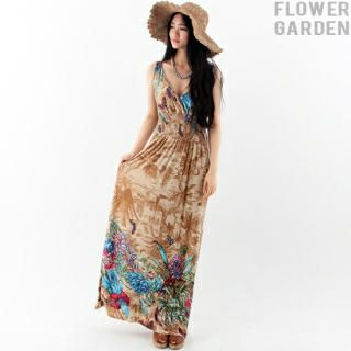 Buy 'Flower garden – Floral-Patterned Maxi Dress' at YesStyle.com plus more South Korea items and get Free International Shipping on qualifying orders.