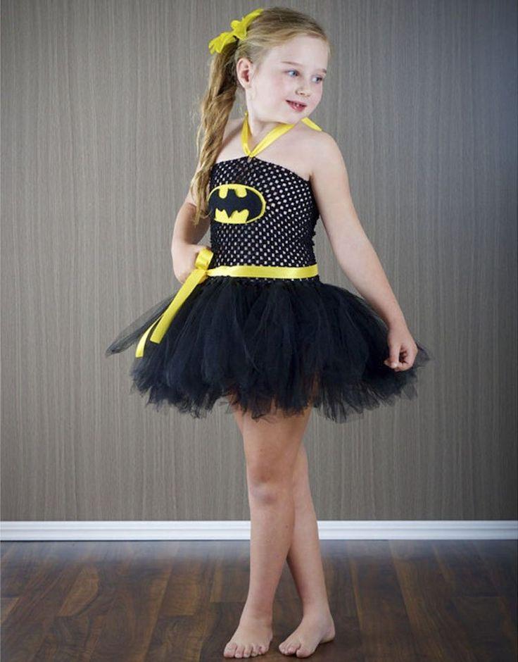 Tutu Röckchen zum Batman-Kostüm für kleines Mädchen selber machen