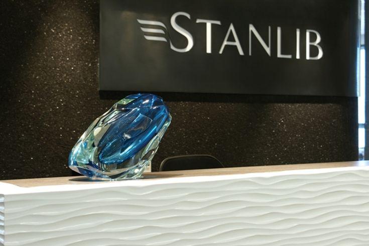 Stanlib Office Reception. Interior design by Source Interior Brand Architecture.
