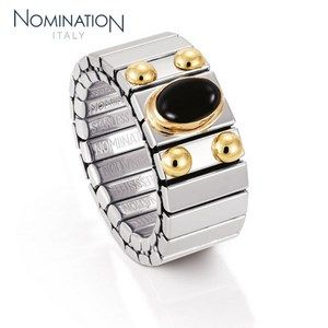 Bague Nomination Collection Extension Medium avec Agate Noire