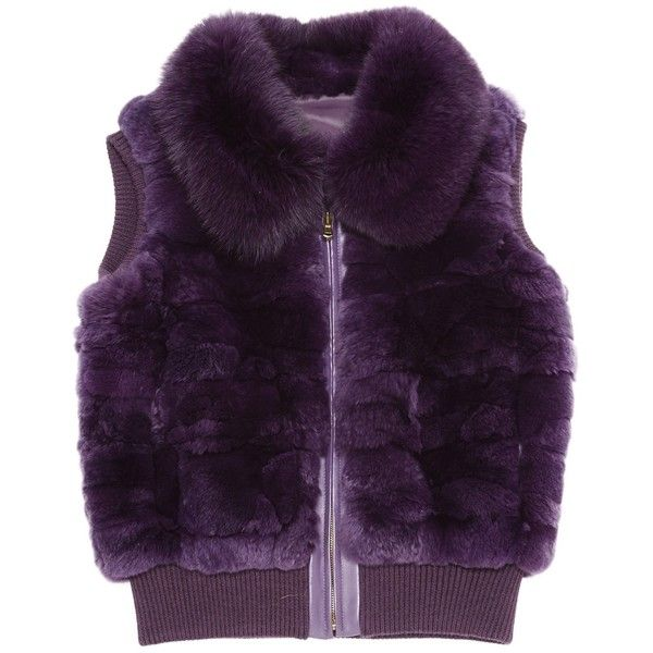 Pre-owned Non Signé / Unsigned Short Vest ($176) ❤ liked on Polyvore featuring outerwear, vests, purple, purple waistcoat, purple vest, vest waistcoat and short vest
