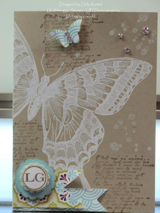 Gorgeous SU butterfly card @Nadine Hills