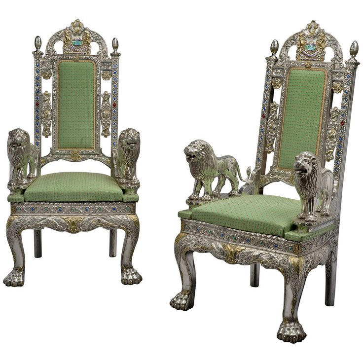 Pair of anglo indian silver veneered throne chairs for Affordable furniture facebook