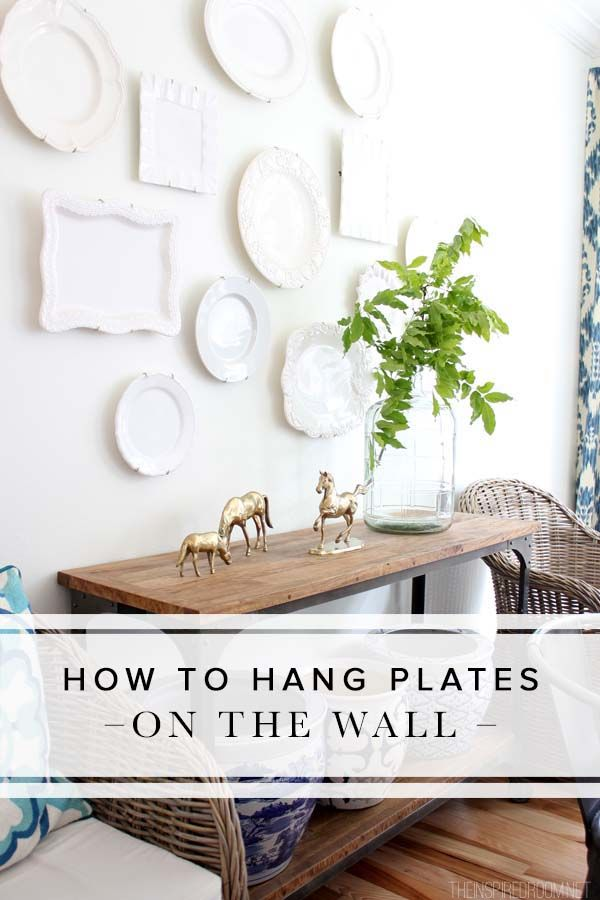 Hanging plates on the wall is a great way to add vintage charm to your home. Get this shabby chic look in no time with these handy and helpful tips.