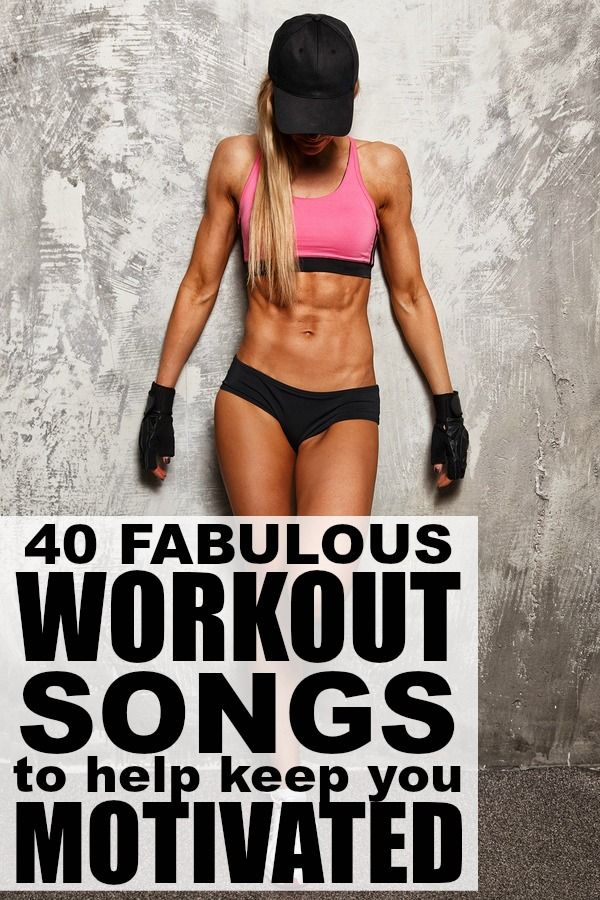 If you're looking for upbeat songs to add to your gym playlist to help you stay motivated with your workout and weight loss goals, this collection of 40 workouts songs is JUST what you need. I'm really digging 5, 7, 10, and 21 right now, but all of these workout songs will keep you pumped and (hopefully) give you the motivation you need to get back in shape (and stay in shape). Good luck!