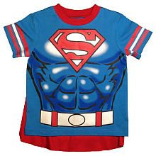 Superman Blue T Shirt with Cape  Infant/Toddler